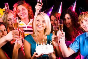 День рождения в веселой компании