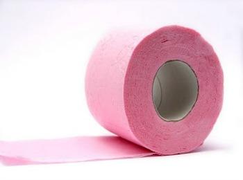 Рулон розовой бумаги