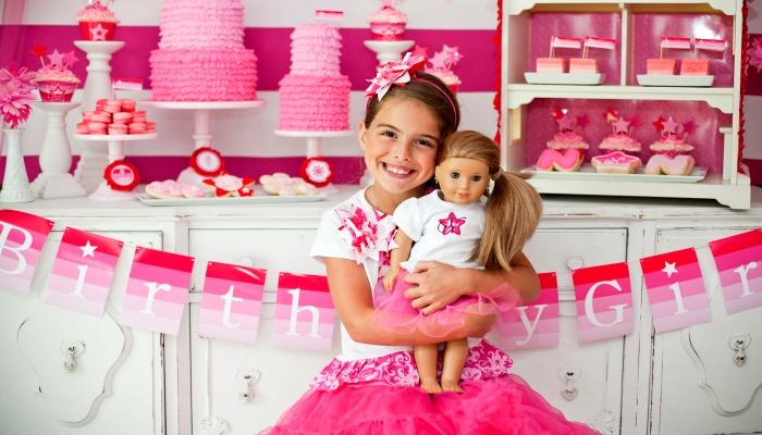 Праздник в розовых тонах для девочки