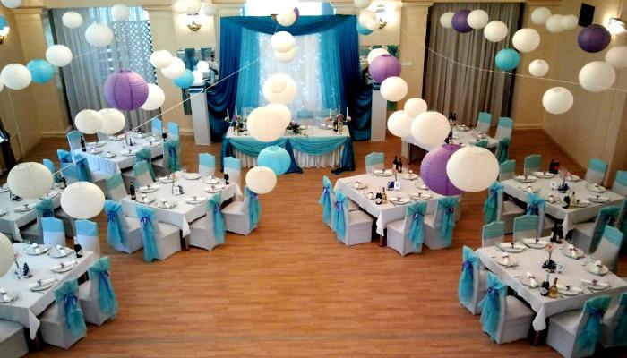 Оформление зала на мужской день рождения