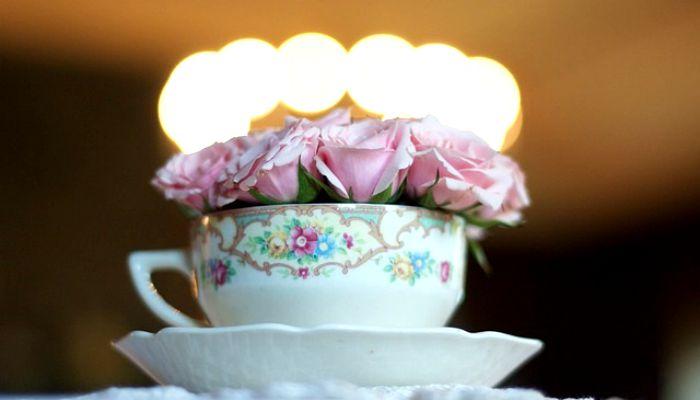Розочки в чайной чашке