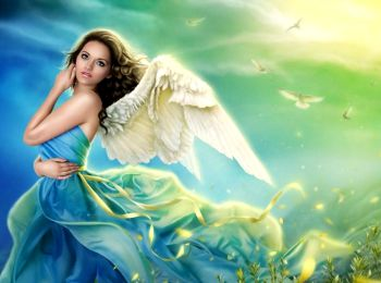 Девушка в образе ангела
