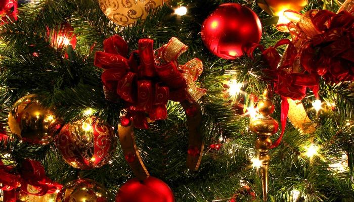 Подкова на новогодней елке