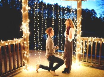 Предложение  девушке руки и сердца  под Новый год