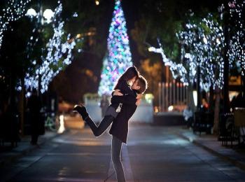 Романтическая зимняя фотосессия