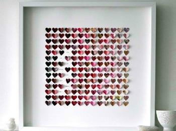Картина из сердечек