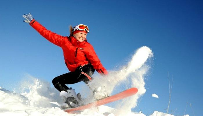 Зимние развлечения на снегу