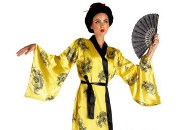 Девушка в костюме японки