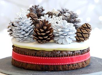 Новогодний торт для любимой девушки