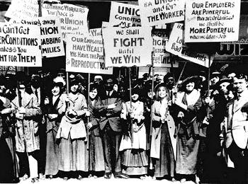 Демонстрация женщин в Нью Йорке 8 марта 1857 года